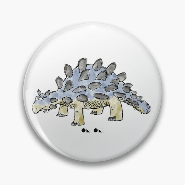 Cartoon Ankylosaurus Pin