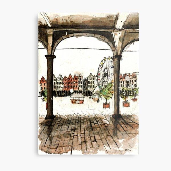 Grand-Place d'Arras under the snow Metal Print