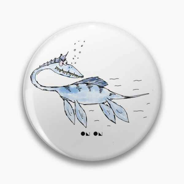 Cartoon Plesiosaur Pin