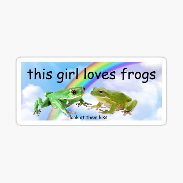 This Girl Loves Frogs Bumper Sticker Sticker