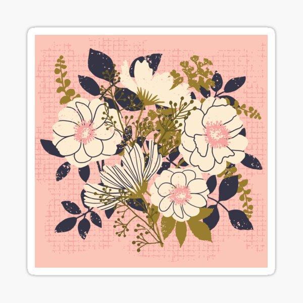 Floral Bouquet ~ on pink Sticker