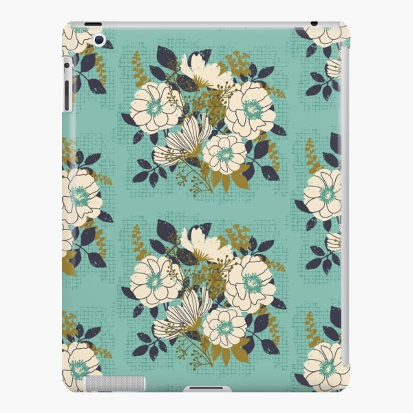 Floral Bouquet ~ on turquoise iPad Snap Case