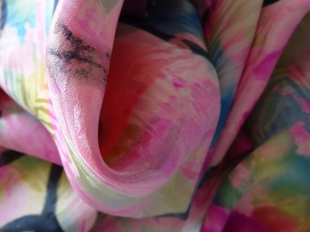 pink swirl, blue, green, by claudedeshais