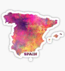 Spain map Sticker