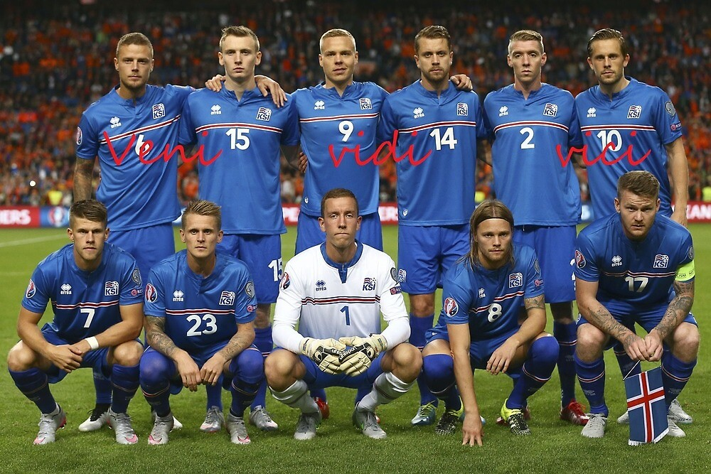 amazing iceland football team by Victor Ejsrud