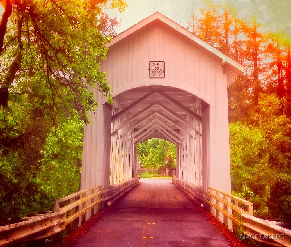 Oregon - Covered Short Bridge by IMAGETAKERS