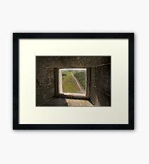 Lighthouse Window Framed Print
