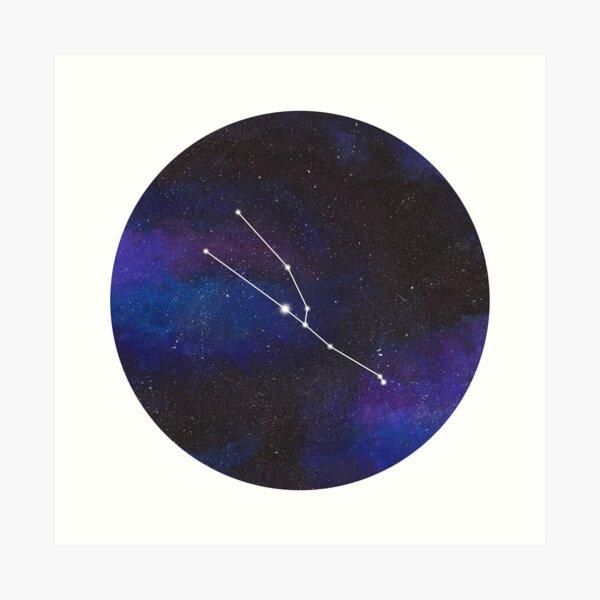 Taurus - galaxy star constellation Art Print