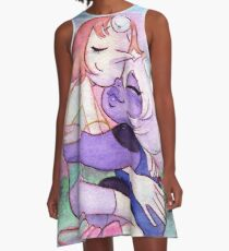 Young Gems Amethyst and Pearl from Steven Universe A-Line Dress