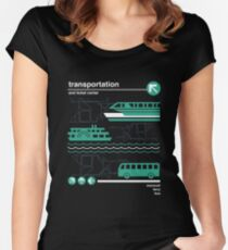 Monorail, Bus and Ferry Women's Fitted Scoop T-Shirt