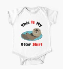Funny This Is My Otter Shirt One Piece - Short Sleeve