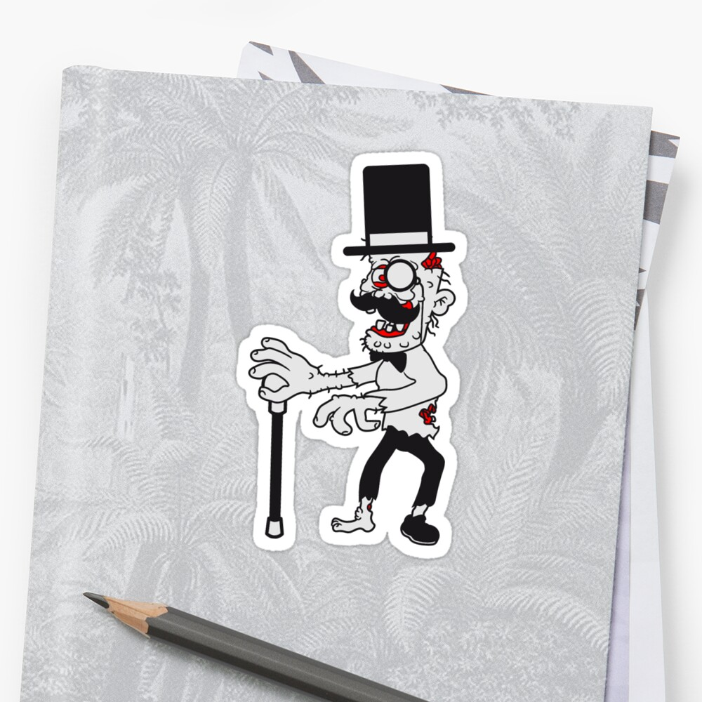 sir mr cylinder stock fly suit hat mustache mustache age man zombie cool disgusting running horror monster halloween comic cartoon by Motiv-Lady