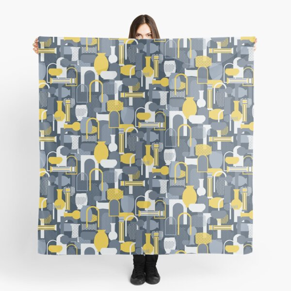 Vases & Bowls (Yellow & Gray) Scarf