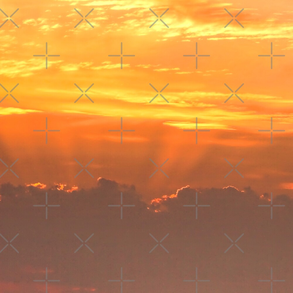 Sunset rays by Avril Harris