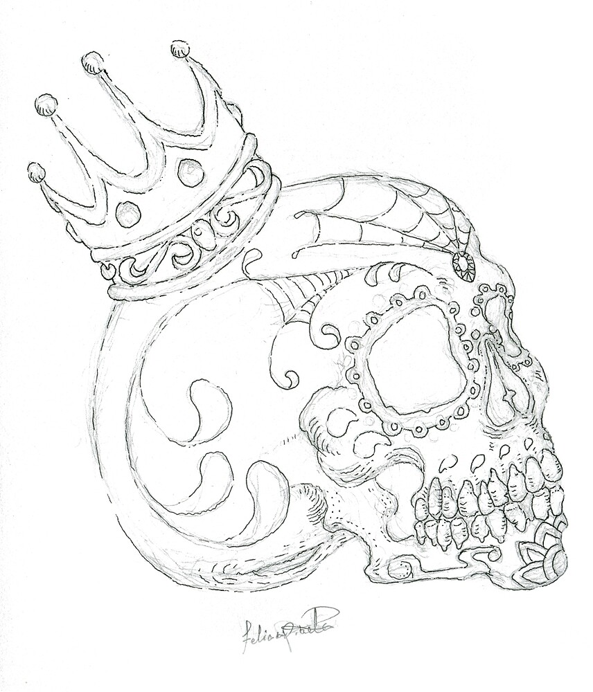 Day of the Dead Skull by Grimwyse