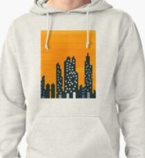 Sunset City and Lights Pullover Hoodie