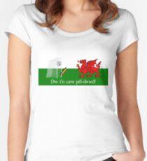 Dw i'n caru pêl-droed! Women's Fitted Scoop T-Shirt