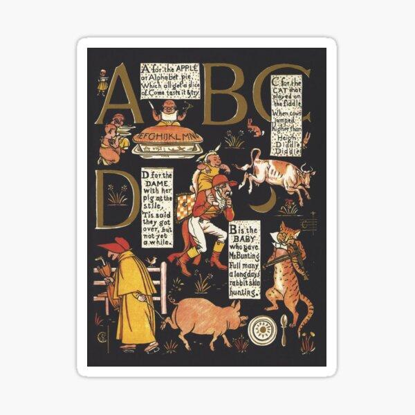Walter Crane Alphabet Book - ABCD Sticker