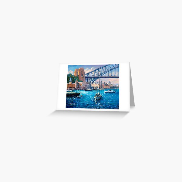 Lavender Bay & Luna Park Sydney Greeting Card