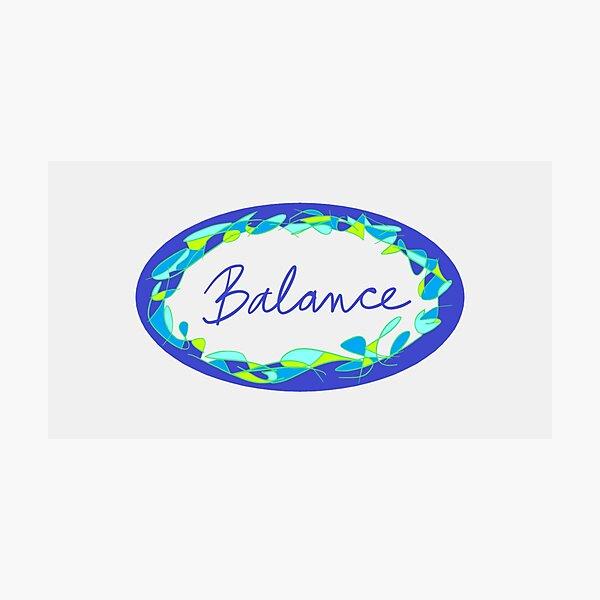 Blue Oval Balance Photographic Print