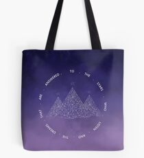 TO THE STARS WHO LISTEN AND THE DREAMS THAT ARE ANSWERED- SARAH J. MAAS Tote Bag