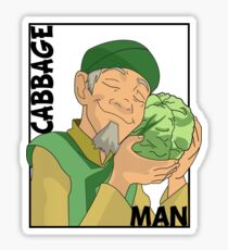Cabbage Man; The Avatar Series Sticker