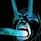 Lightning Scream Blue by Justin Beck