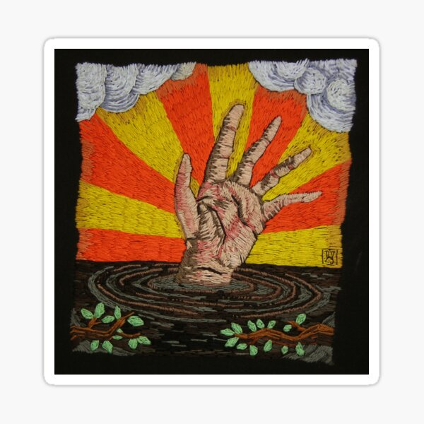 Quicksand Hand Sticker