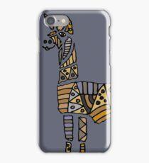 Fun Funky Llama Abstract Art original iPhone Case/Skin