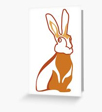 Golden Rabbit Wedding Design Greeting Card