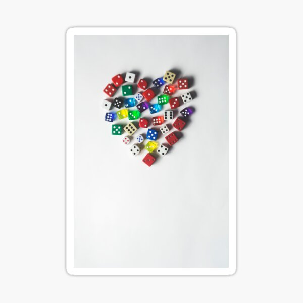 Take a chance on love... Sticker