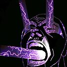 Screaming Face purple by Justin Beck
