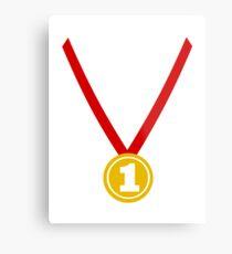 Medal champion winner Metal Print