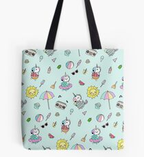 Summer Unicorn Pool Party Tote Bag