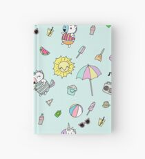 Summer Unicorn Pool Party Hardcover Journal