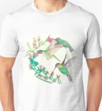 Hummingbirds in flight Unisex T-Shirt