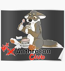 Not at Anthrocon Club Poster