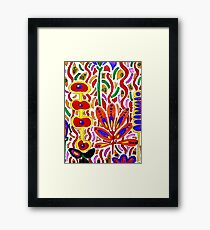 ORANGE AND YELLOW ABSTRACT FLORAL Framed Print