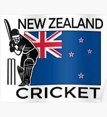 New Zealand Cricket Poster