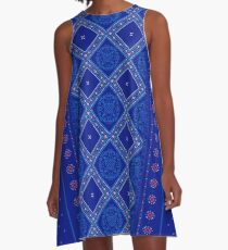 Sweet Winter Blues A-Line Dress