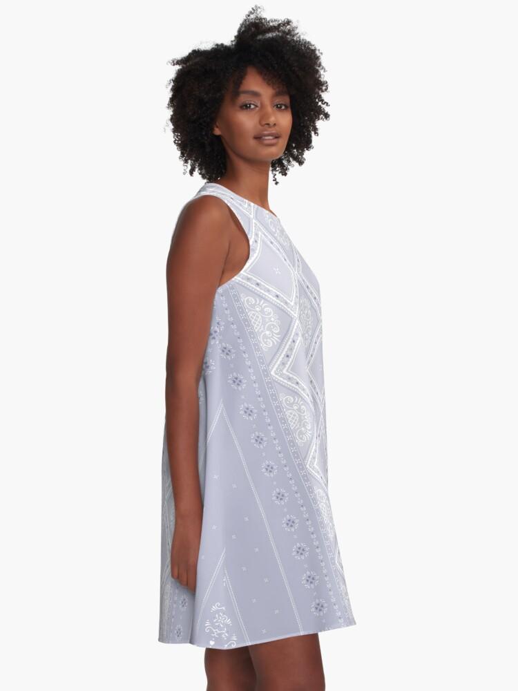 Alternate view of Frosty Winter Pattern A-Line Dress