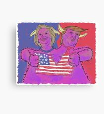2 Headed Monster (2016 Election) Canvas Print