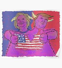 2 Headed Monster (2016 Election) Poster