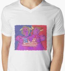 2 Headed Monster (2016 Election) Men's V-Neck T-Shirt