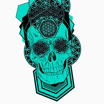 Bursting Geo Skull v4 by Tiduk