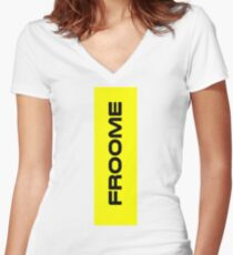 Chris Froome Yellow Women's Fitted V-Neck T-Shirt