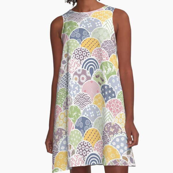 Spring Scales A-Line Dress