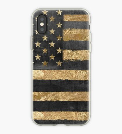 American Flag Gold and Black  iPhone Case