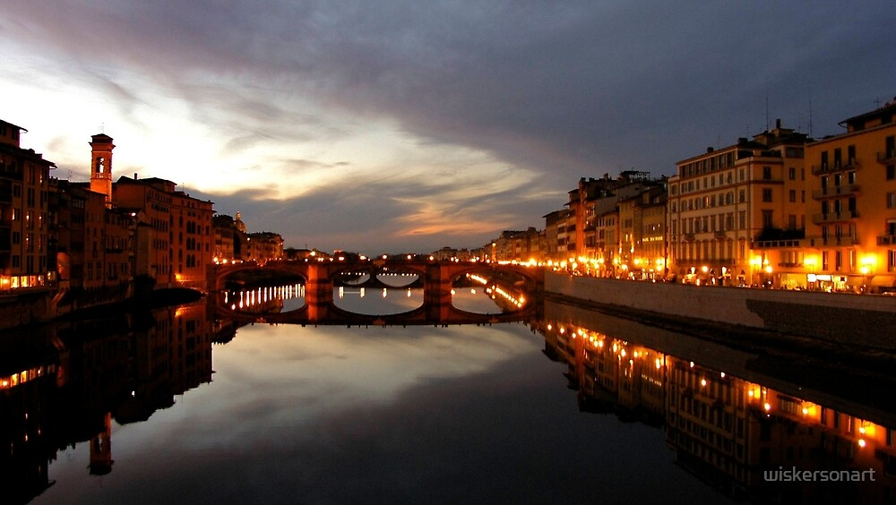 View over the Ponte Vecchio by wiskersonart