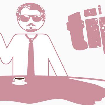 """I Don't Tip"" Mr. Pink (light tee version) by lyubomir"